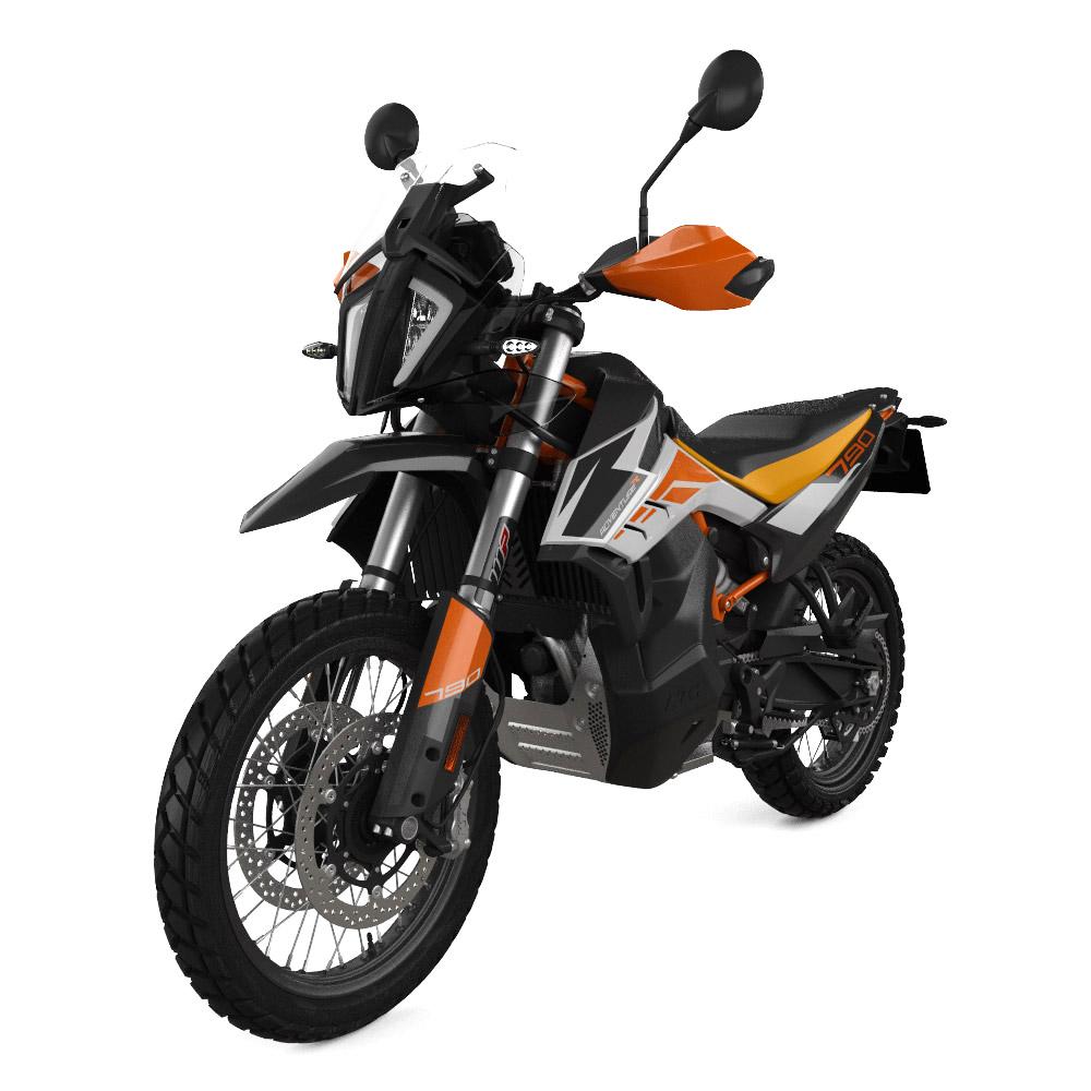 沙漠中骑摩托车  描述已自动生成