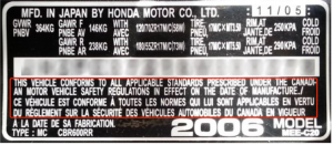 Canadian Compliance Label